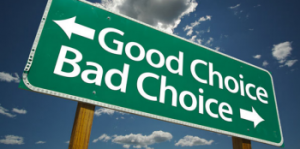 Good Choices Bad Choice Road Sign Mini Price Storage