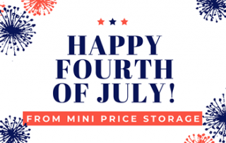 happy 4th of july from mini price storage